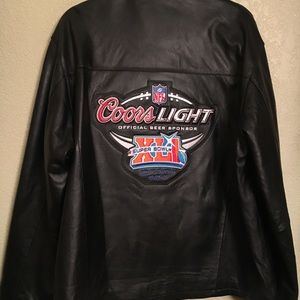 new product ccf4a ff358 Rare Coors light Super Bowl XLI Leather Jacket